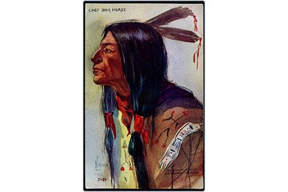 L. Peterson: Chief High Horse - amerikansk indianer. H. M. Tammen, Denver No. 3424.