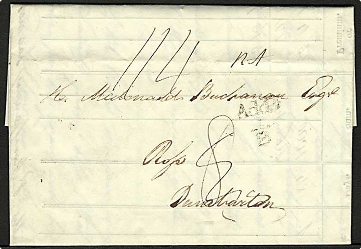 1827. Foldebrev fra Bank of Scotland dateret d. 24.9.1824 til Dumbarton.