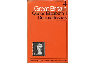 Great Britain. Queen Elizabeth II Decimal Issues, Stanley Gibbons special katalog 3. udg. Vol.4. 490 sider.