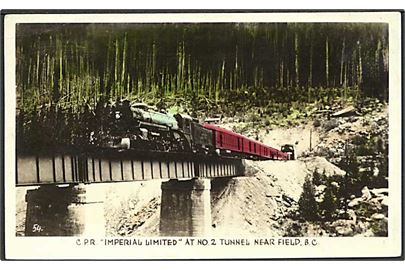 C.P.R Imperial Limited ved tunnel nr. 2 Near Field, Canada. U/no.