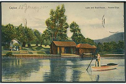 Ceylon. Lake and Boat House, Nuwara-Eliya.