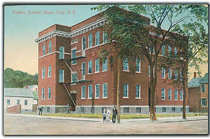 Powers School, Upper Troy, N. Y. A. C. Bosselman & Co. no. 10263.