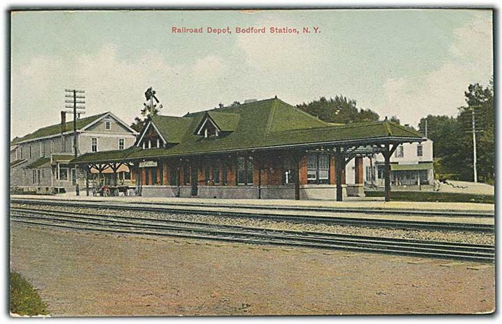 Railroad Depot, Bedford Station, N. Y. W. B. Adams & Son no. D. 2287.