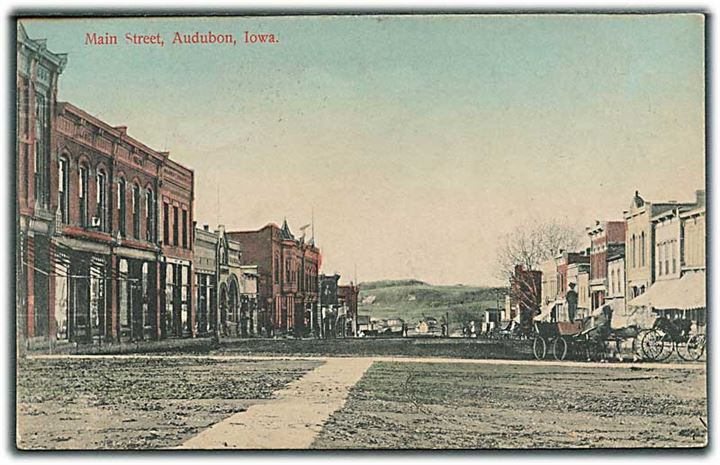 Main Street, Audubon, Iowa. A. M. Simon no. 13576.