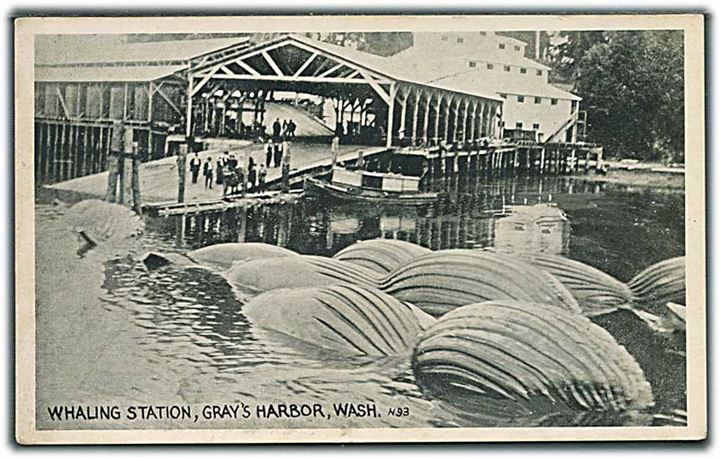 Whaling Station, Gray's Harbour, Wash. Art Co. N93.