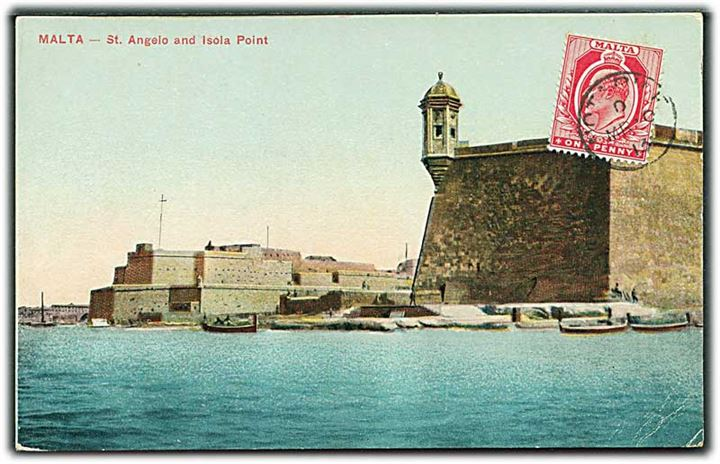Malta. St. Angelo and Isola Point. U/no.