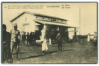 Lulangure. La Gare. Est Africain Allemand (Occupation Belge). Waterlow & Sons no. 19.