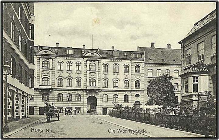 Ole Wormsgade i Horsens. Stenders no. 7819.