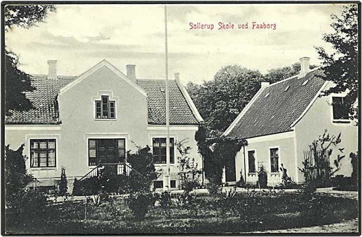 Sollerup skole ved Faaborg. W.K.F. no. 3925.