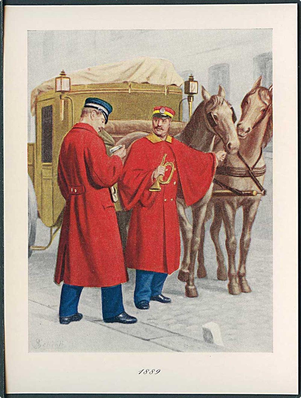 10 kort med dansk postvæsens historie Danske Filatelisters