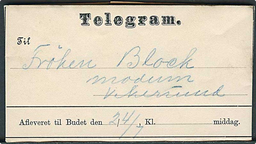 afmeld telegraf datering