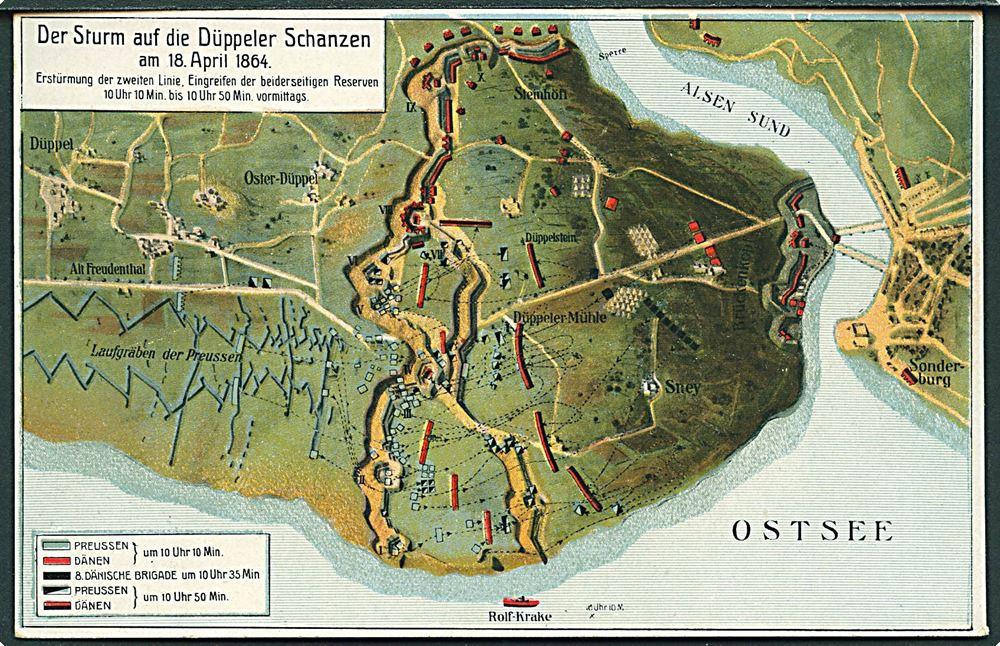 Kort Over Slaget Ved Dybbol I 1864 C C Biehl No 2869 6480 Denmark