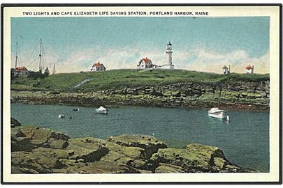 Cape Elizabeth fyrtaarn. Chrisholm no. 134024.