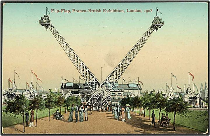 Flip-Flap, Franco-British Exhibition i London 1908. Valentine u/no.