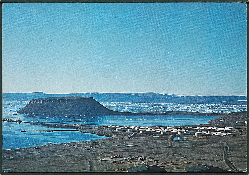 Dundas Bjerget Ved Thule Air Base Gronland Greenland Base Trade
