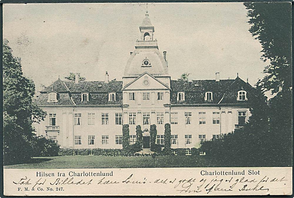 Charlottenlund Slot F M No 247 1905 2920 Danmark Postkort