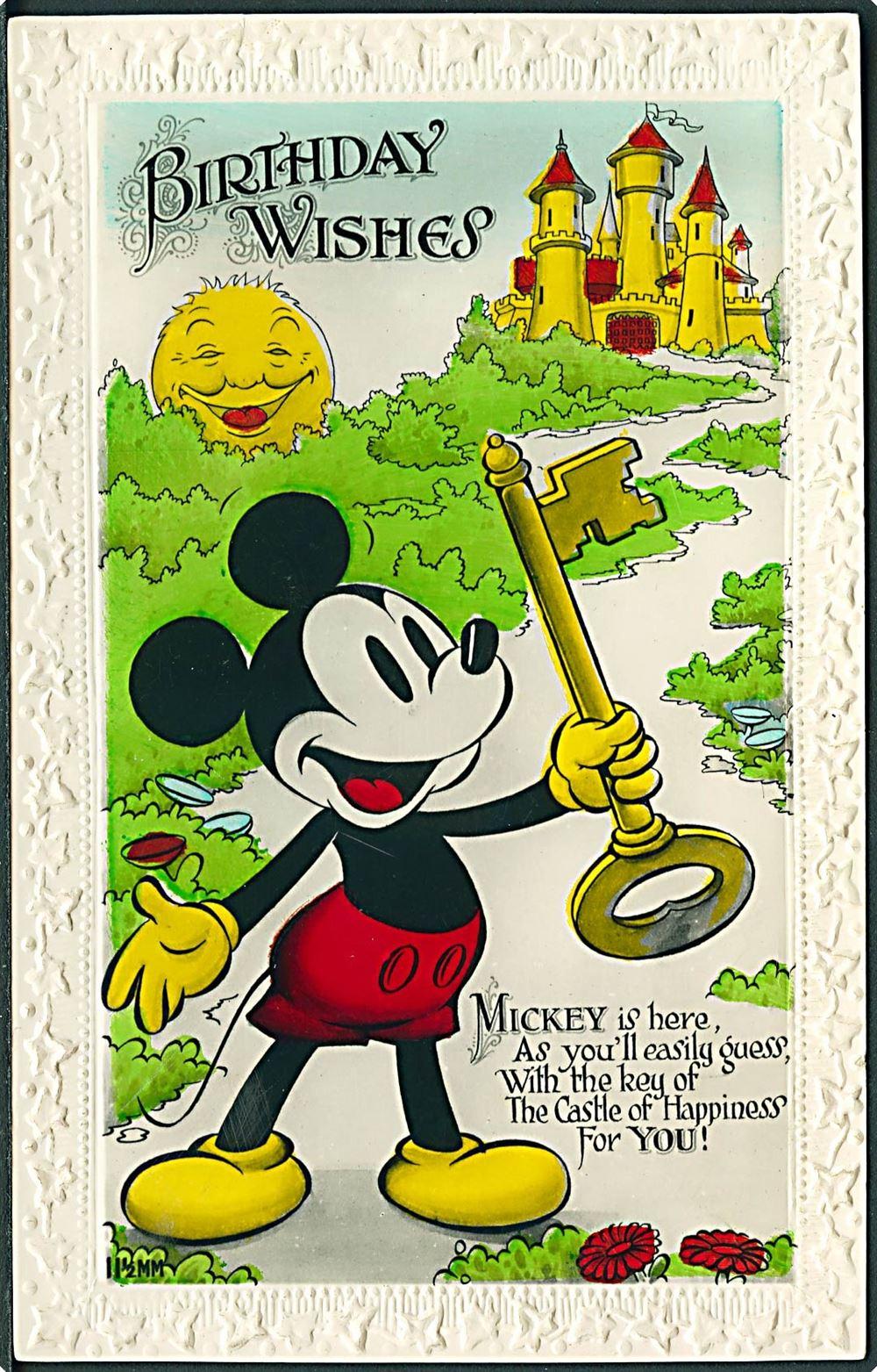 Disney Walt Mickey Mouse Birthday Wishes Valentine Sons Ltd U