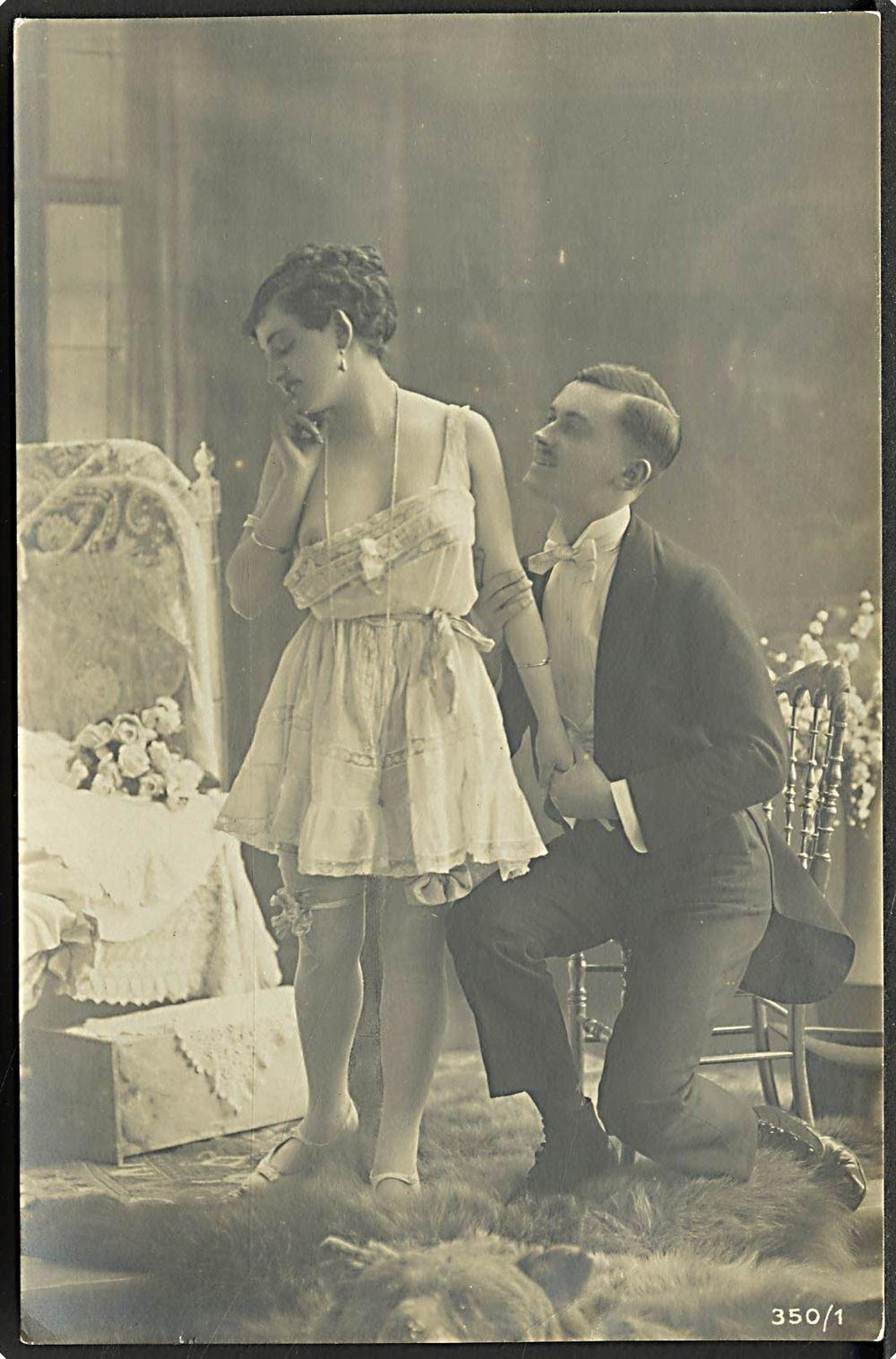 Erotik Lingeri No 350 1 6 Serie paa 6 kort Kvalitet 8 1910 France