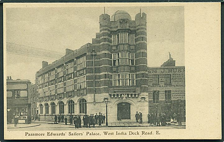 Passmore Edward's Sailors Palace, West India Dock Road, E. J. Seager & Sons u/no.