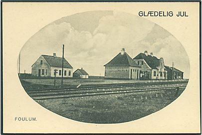Glædelig Jul. Foulum Station. J. J. N. no. 7922.