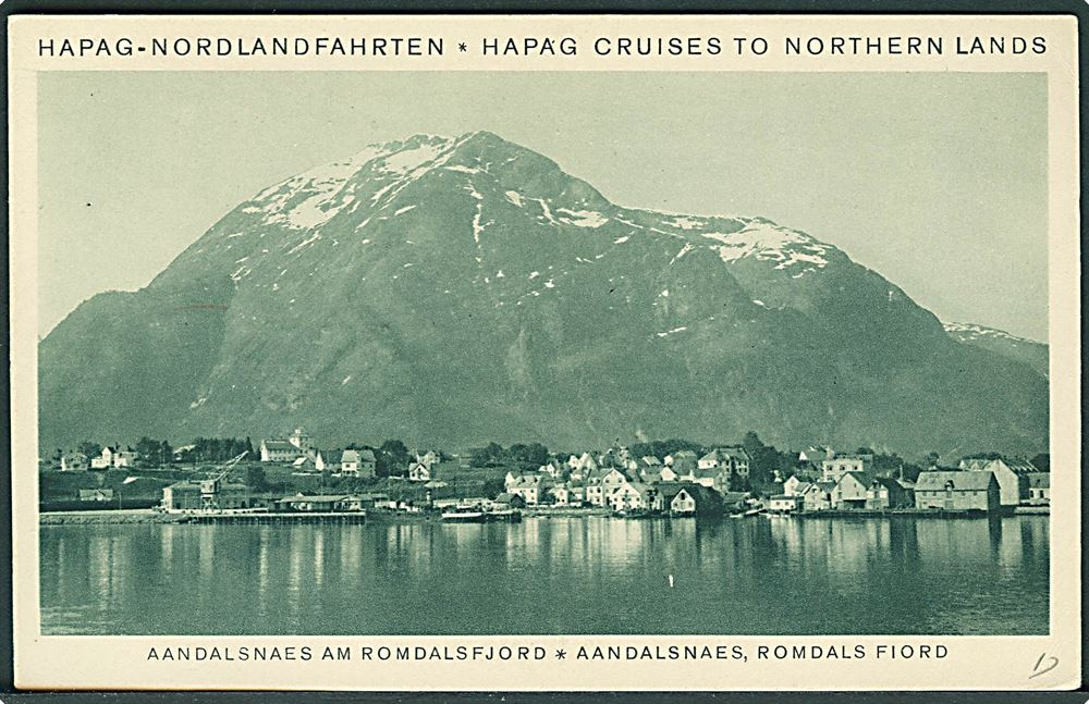 3 Pfg Hamburg Amerika Linie Pa Telegram Kort Med Meddelelse Fra