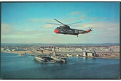 Sikorsky SH-3 Sea King fra US Navy ved Quonset Point Naval Air Station. u/no.