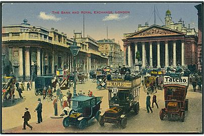 The Bank and royal exchange, London. Automobiler ses. No. 4.