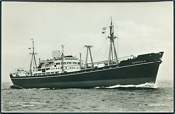 M/S Songkhla. The East Asiatic Company u/no. Fotokort.