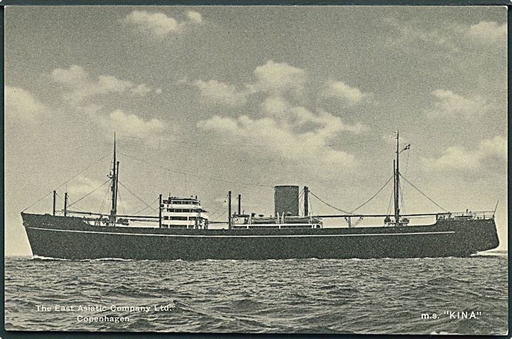 M/S Kina. The East Asiatic Company Line. U/no.