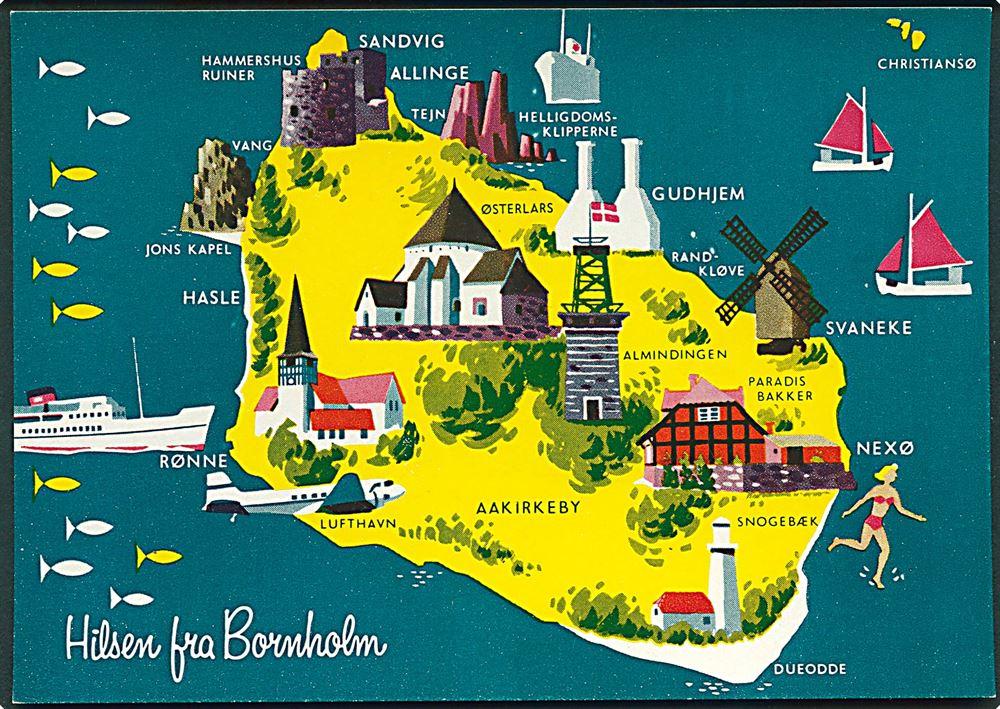 Kort Over Bornholm Bexdyie
