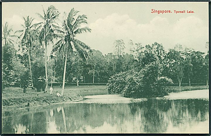 Tyersall Lake, Singapore. Max H. Hiickes no. 199.