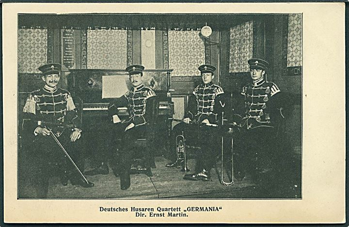 Deutsches Husaren Quartett Germania. Dir. Ernst Martin. U/no.